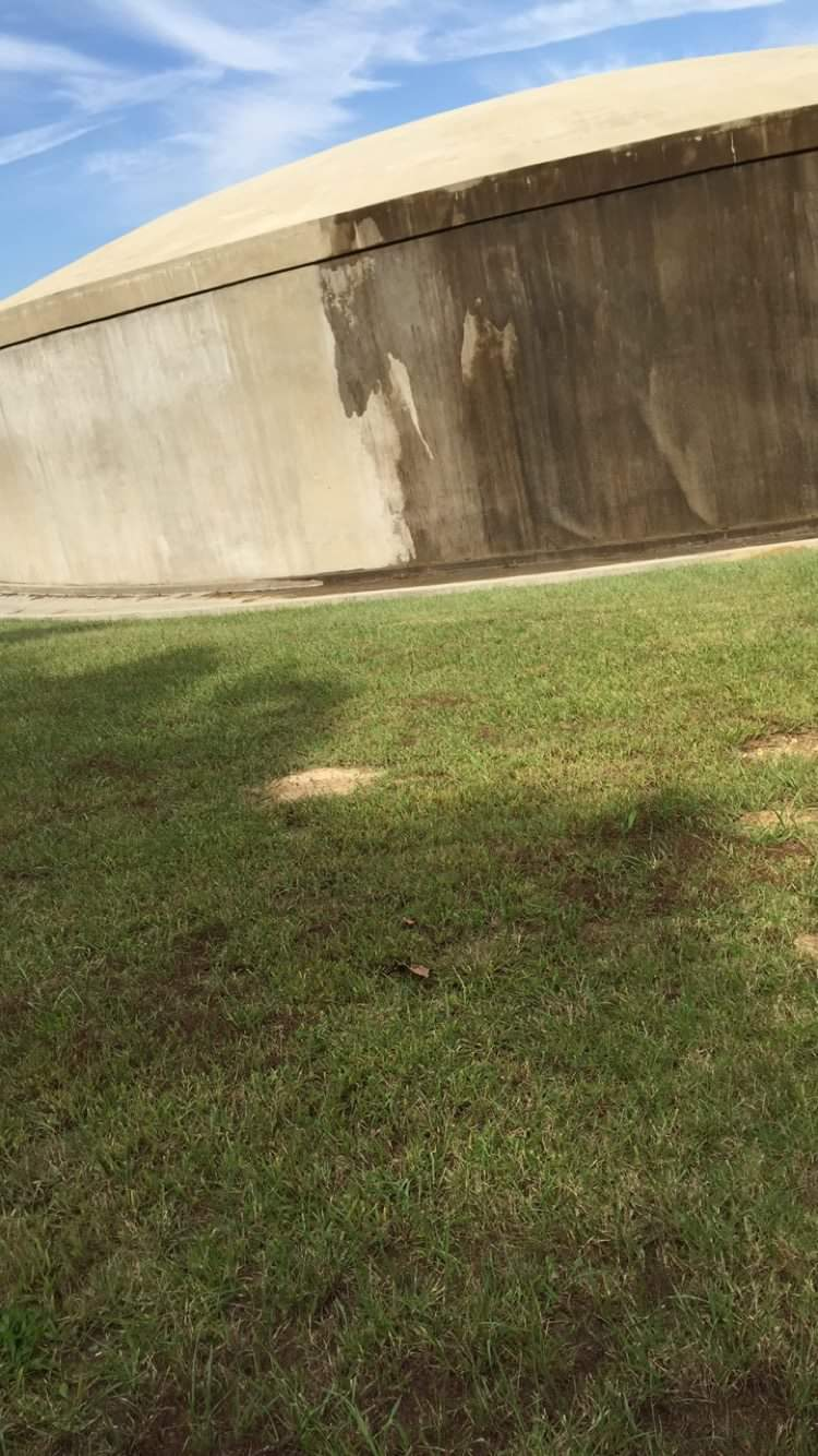 Wall Being Pressure Washed