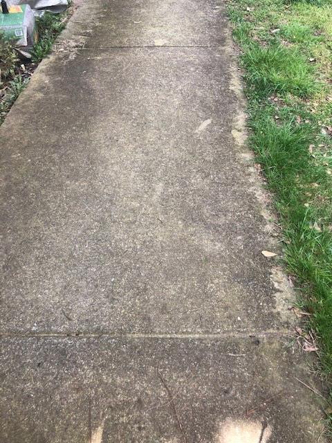 Dirty & Worn Sidewalk